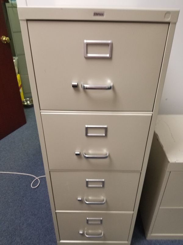 Staples 4 Drawer File Cabinets For