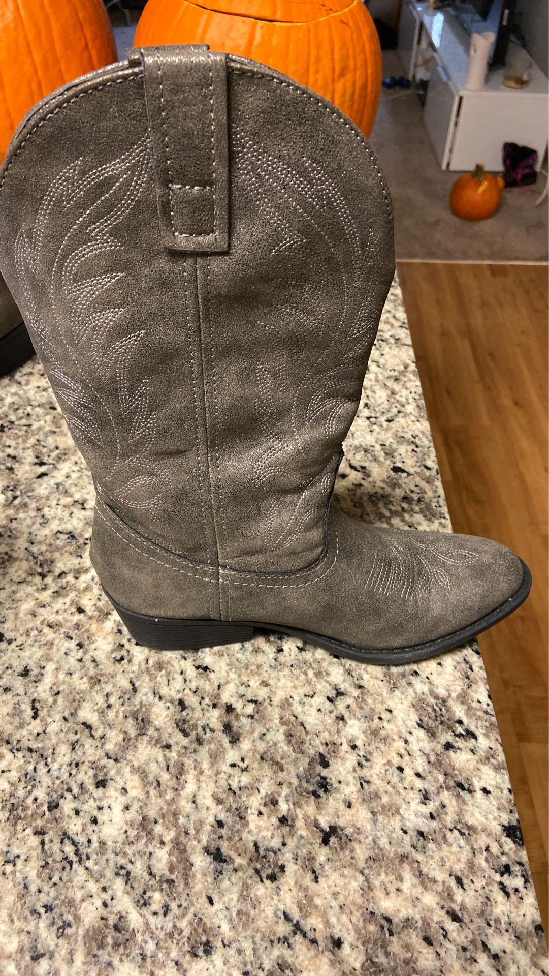 Cowboy boots. Only worn once.