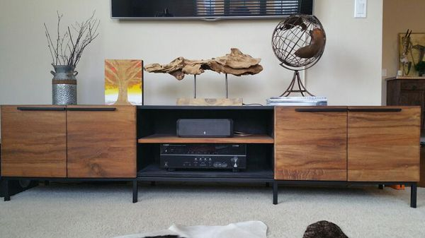 Crate And Barrel Rigby 80 5 Large Media Console With Base For Sale In Irvine Ca Offerup