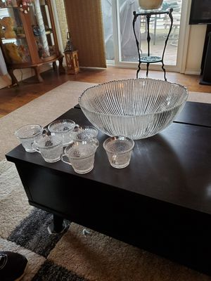 Photo Punch bowl with 6 cups