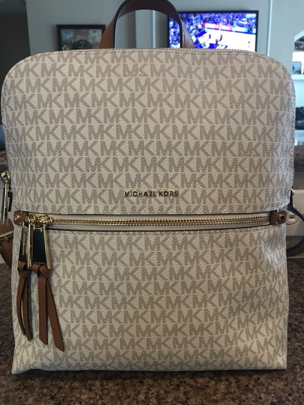 e594fd4fac9c Michael Kors Signature Rhea Medium Slim Backpack-NWT for Sale in ...