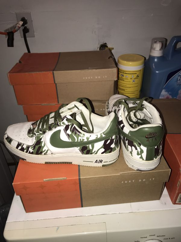 a9492c67d1230 Nike Air Force Ones /Green Cam 10.5 for Sale in Phillips Ranch, CA ...