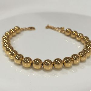 Gold filled beads ball bracelet bangle women's jewelry for Sale in Silver Spring, MD