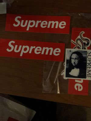 Supreme Mona Lisa sticker, Ganesha and 3 box logo stickers for Sale in Silver Spring, MD