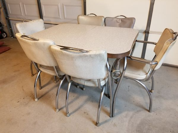 Vintage 1940 S 1950 S Kitchen Table And 6 Chairs For Sale In Mount Hope Ks Offerup