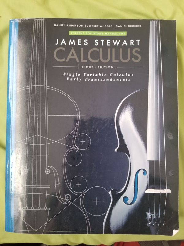 Student Solutions Manual for Stewart's Single Variable Calculus: Early  Transcendentals, 8th (James Stewart Calculus) for Sale in