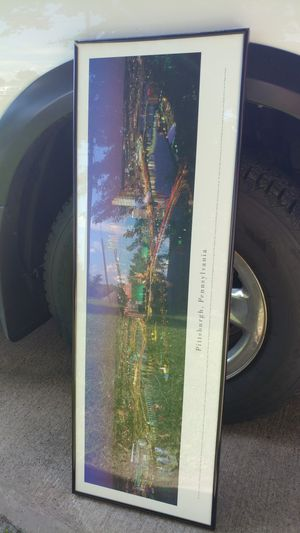 Glass framed picture of Pittsburgh for Sale in Irwin, PA