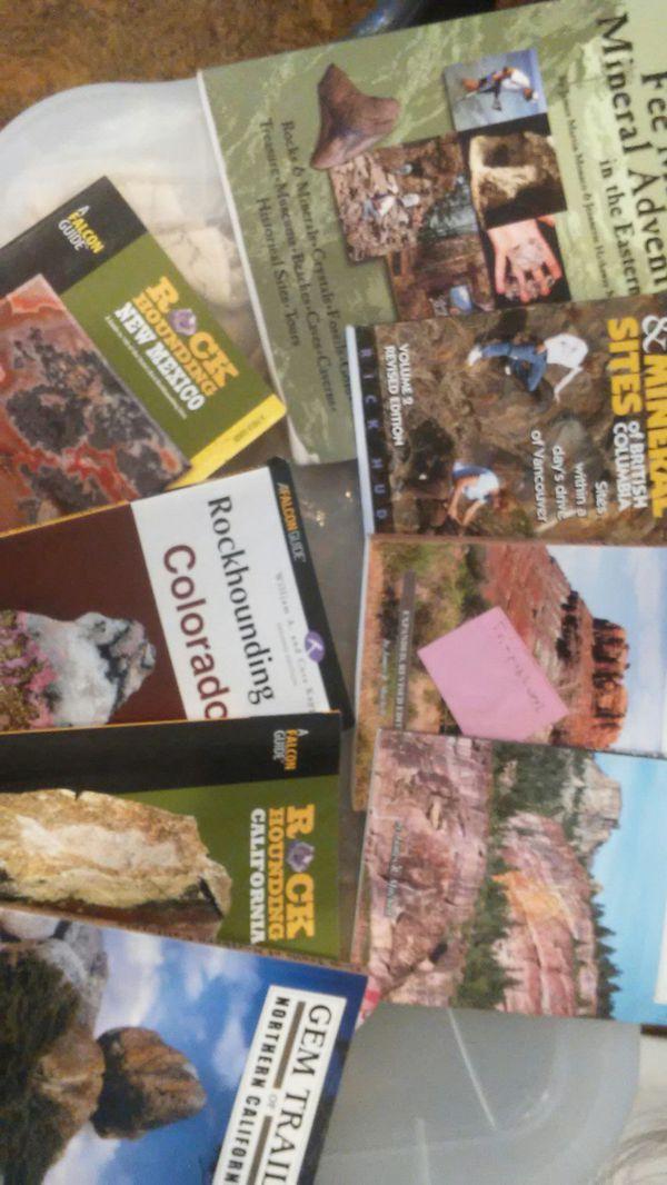 Lot of Rockhounding books  East coast  British Columbia