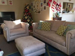 Couch set with ottoman for Sale in Falls Church, VA