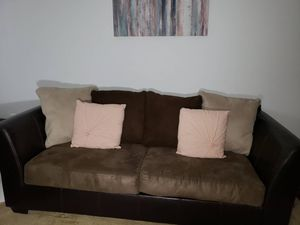Brown Living Room Couch for Sale in Manassas, VA