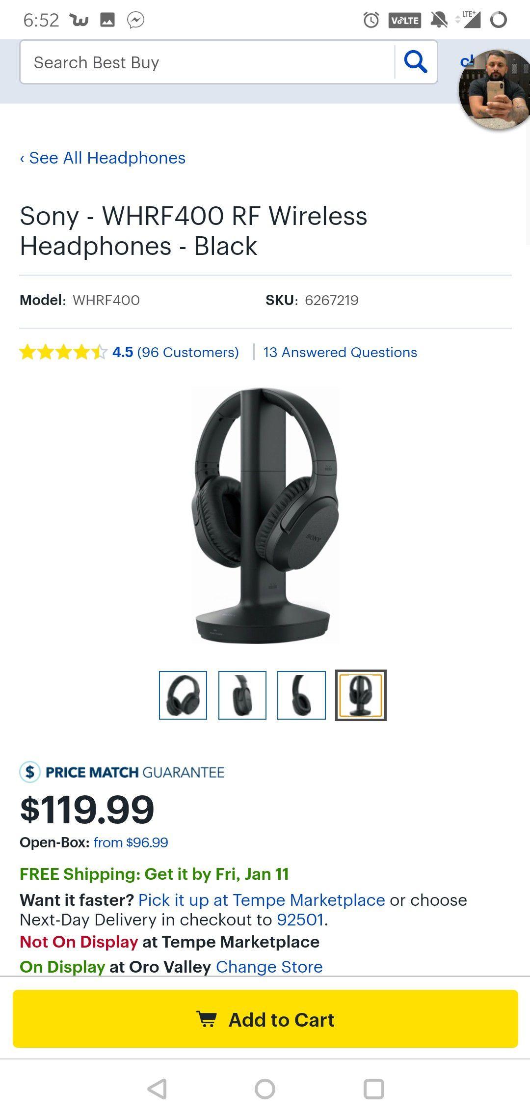 Sony RF-995R Headphones