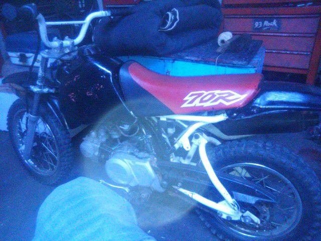 Photo Dirt Bike Honda 70 Black And White Good Running Dirt Bike
