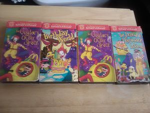 Photo ULTRA RARE MCDONALDS CARTOON VHS TAPES