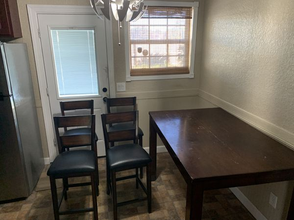 Dining room chairs and free table for Sale in Jacksonville ...