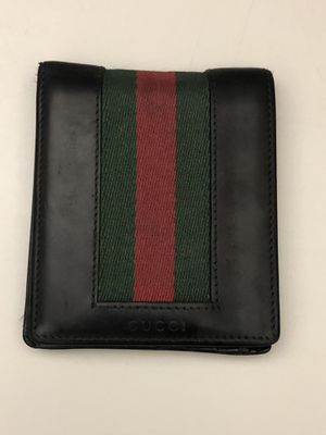 Gucci Web Leather Bi-Fold Wallet for Sale in Alta Loma, CA