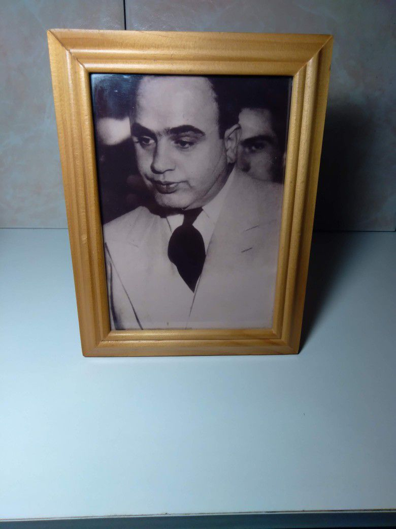 Vintage Black & White Alphonse Capone Picture