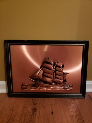 3D Ship picture Copper Embossed for Sale in Leesburg, VA