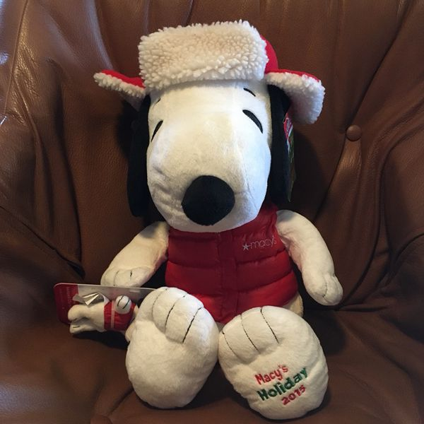New With Tag Macy S Holiday 2015 20 Plush Stuffed Snoopy Bonus