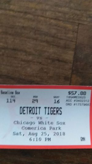 Two Tigers tickets for Sale in Detroit, MI