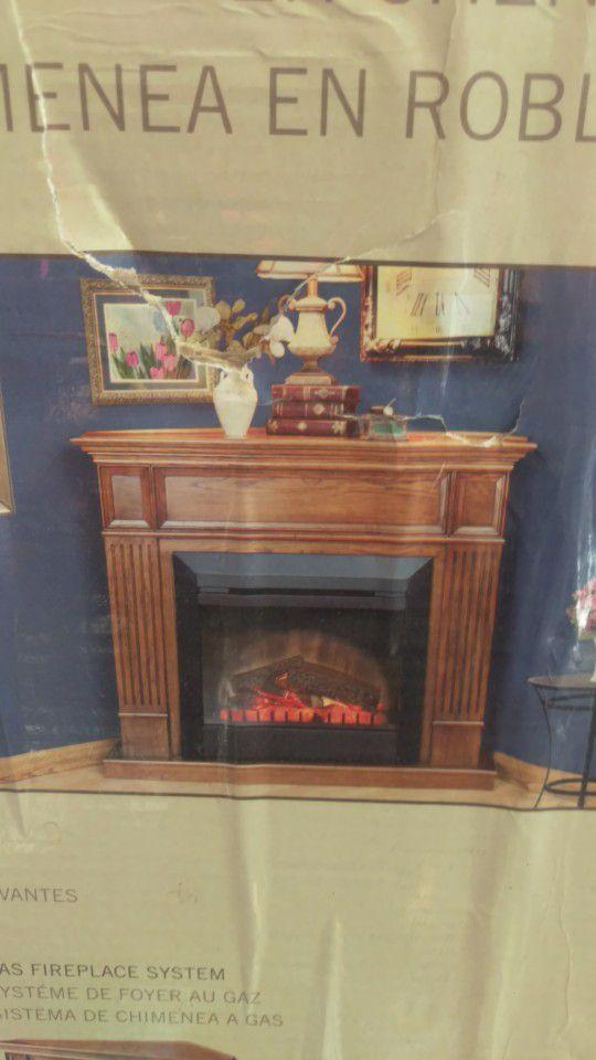 Oak Corner Fireplace Mantle For Sale In Henderson Nv