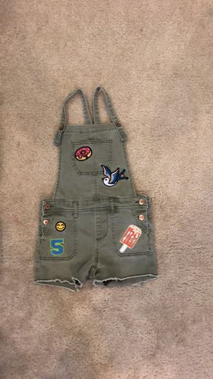 Girls army green overalls - size M for Sale in FL, US