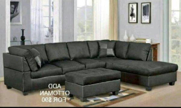 Brand New Black Sectional Sofa. Ottoman $90 for Sale in Austin, TX ...