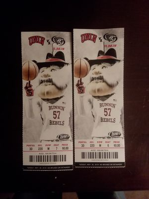 Two unlv basketball tickets! for Sale in North Las Vegas, NV