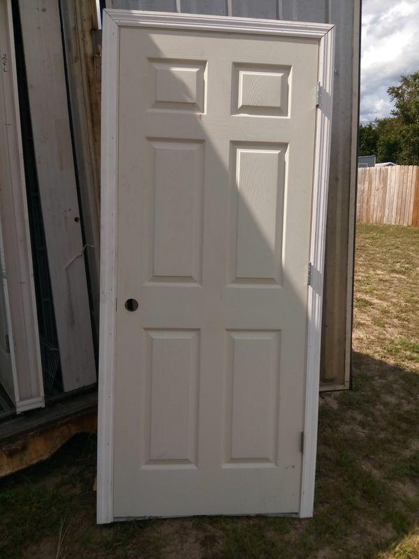 Brand New 32x80 Interior Doors Only 6 Panel Prehung Case Molding