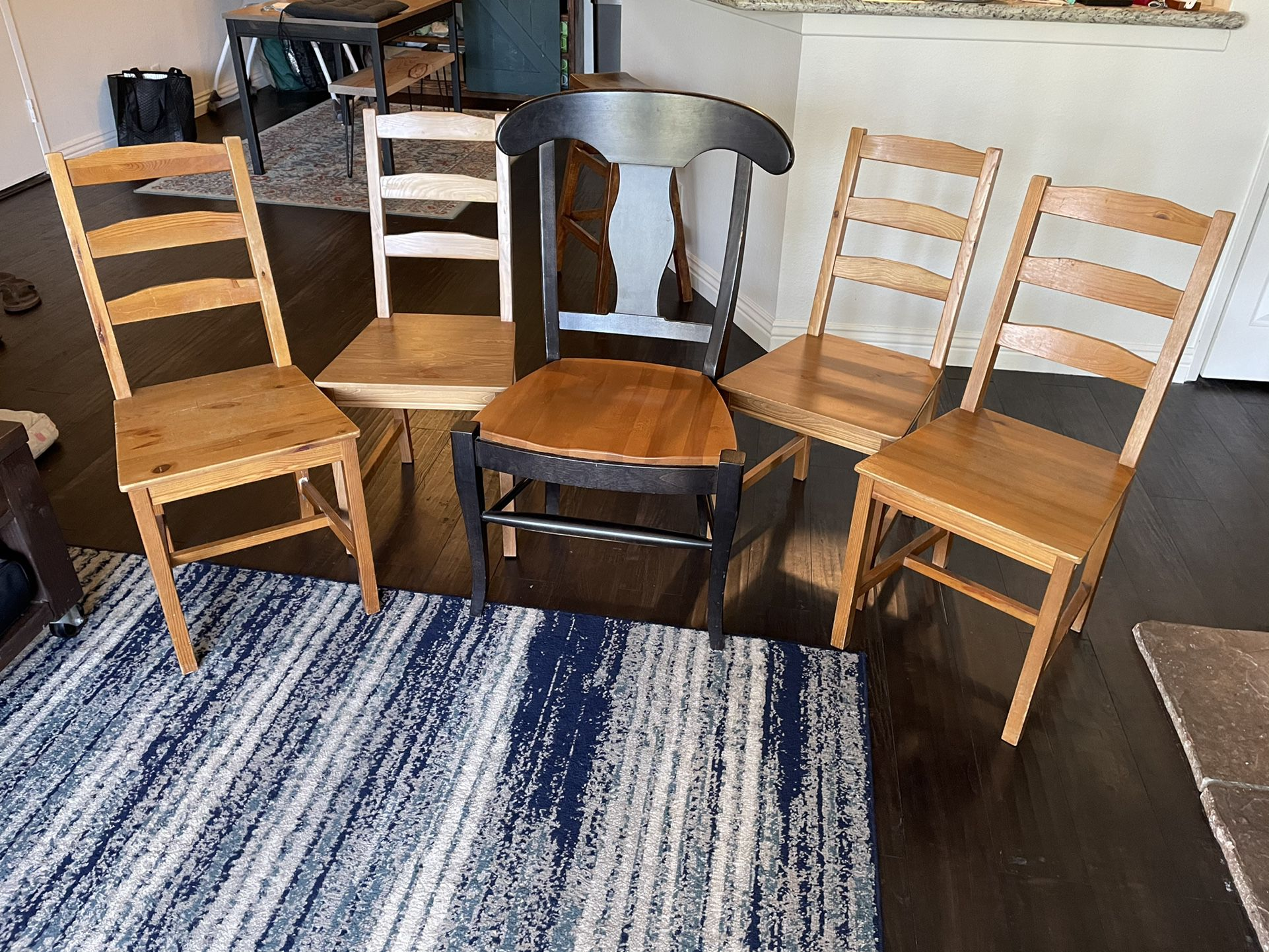 Wood Chair - Just The Middle One