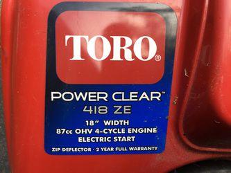 Toro power clear 418ZE snowblower Thumbnail