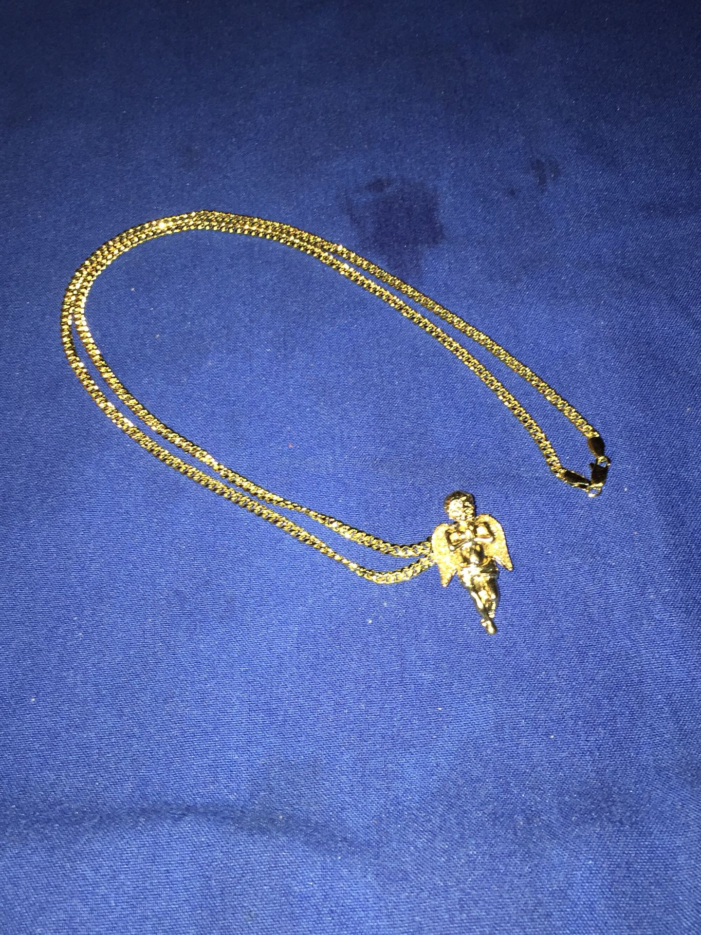 """22Inch 14K Gold Chain W/ Angel pendent"""""""