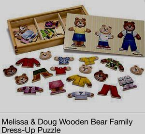 Melissa & Doug Wooden Dress Up Bear Family Puzzle with Storage Case for Sale in Rockville, MD