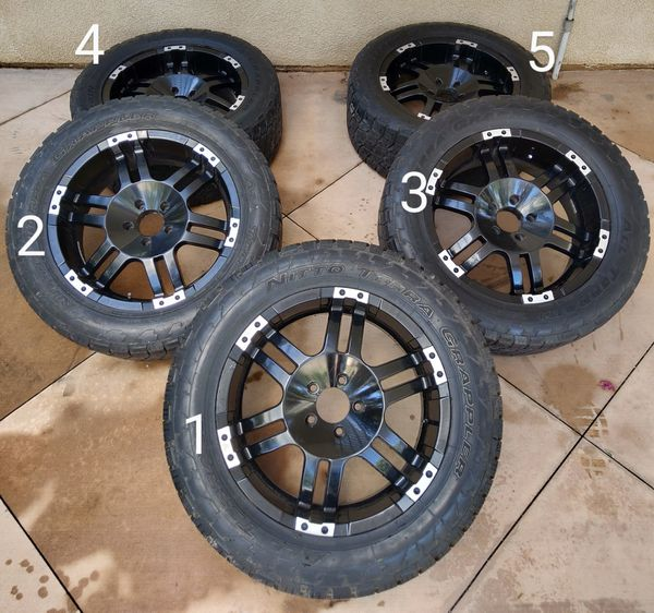 """Jeep 20"""" Wheels And Tires (five) Complete Set For Sale In"""