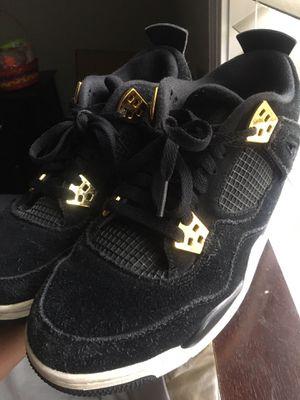 jordan 4's black/gold for Sale in Lynchburg, VA