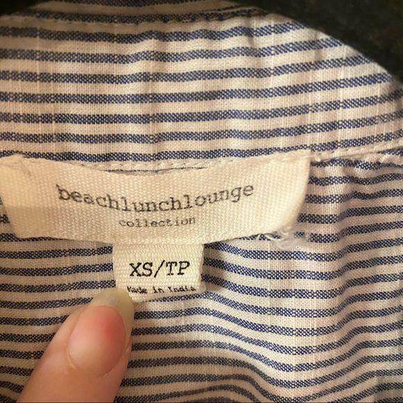 Beach Lunch Lounge Pinstripe Button Down Shirt