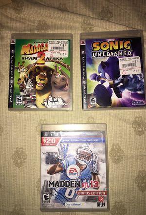 3 PS3 games for Sale in Phoenix, AZ