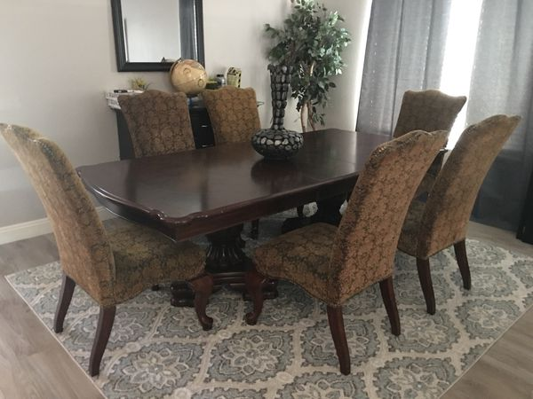 formal dining room table with 6 chairs (furniture) in peoria, az Formal Dining Room Tables