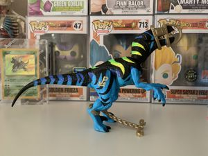 Photo Vintage Jurassic Park Chaos Effect Alpha Raptor Action Figure Hasbro Attack Jaw Toy