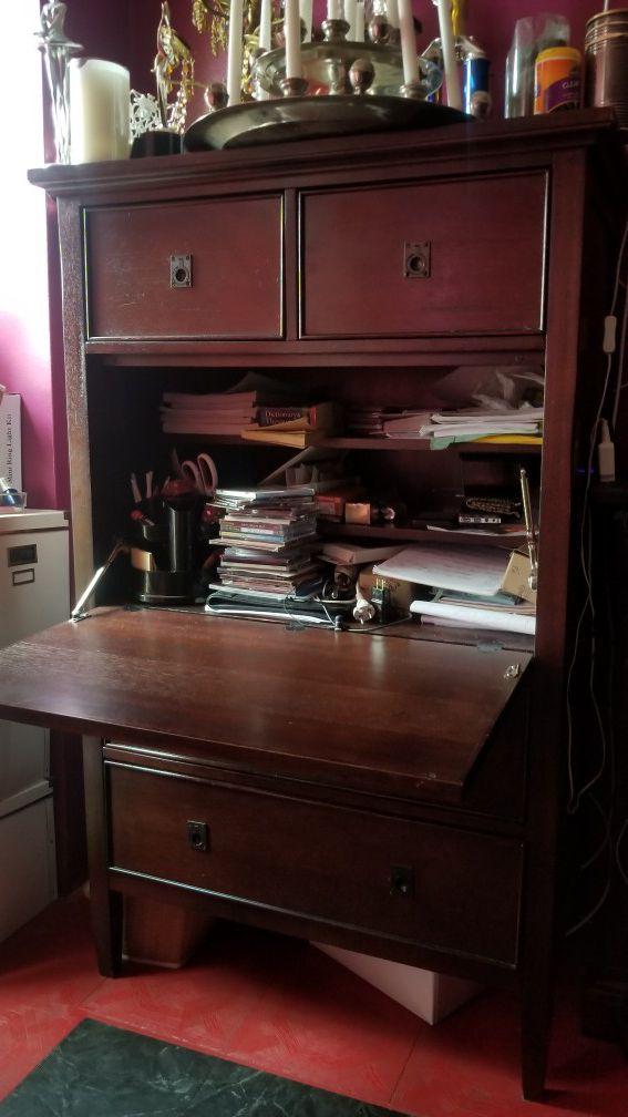 Secretary Desk Folding Table Bookshelf For In Staten Island Ny Offerup