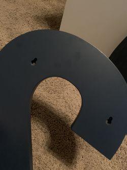 "Pottery Barn navy blue ""2"" and ""0"", super cute wall hangings Thumbnail"