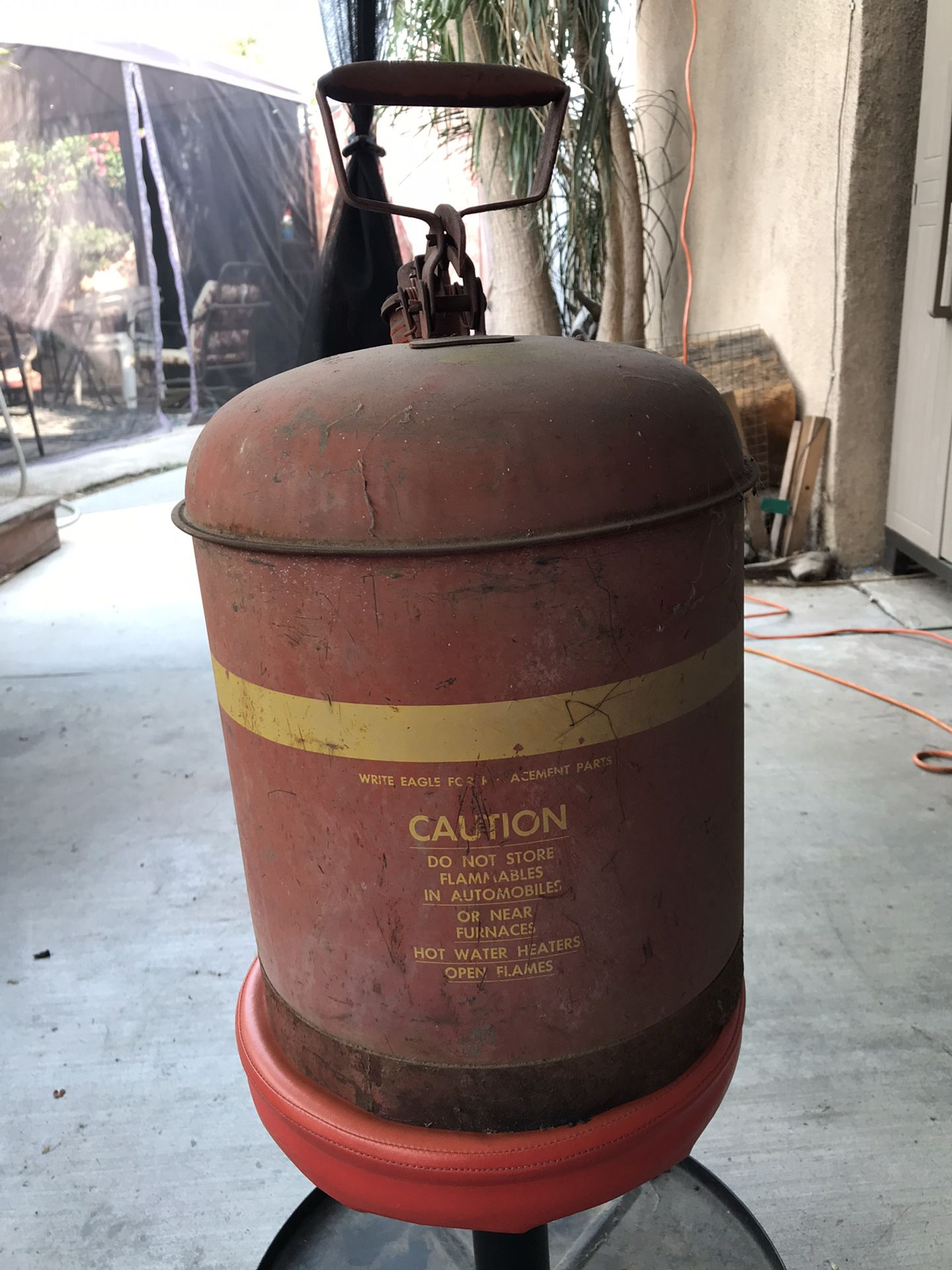 Old vintage 5 gallon gas can