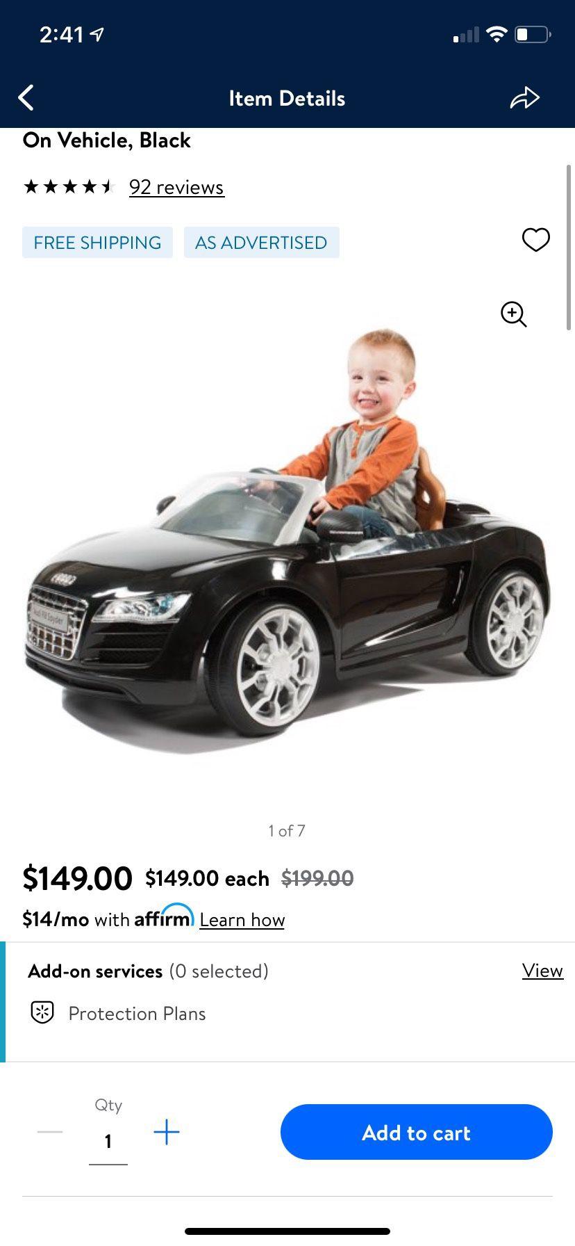 Ride On Audi