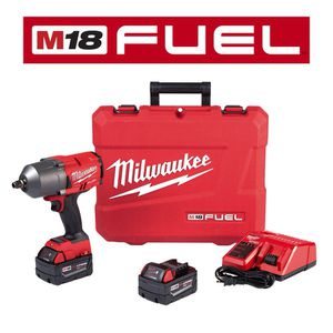 Milwaukee M18 FUEL 18-Volt Lithium-Ion Brushless Cordless 1/2 in. Impact Wrench and Friction Ring Kit with (2) 5.0Ah Batteries for Sale in Orlando, FL