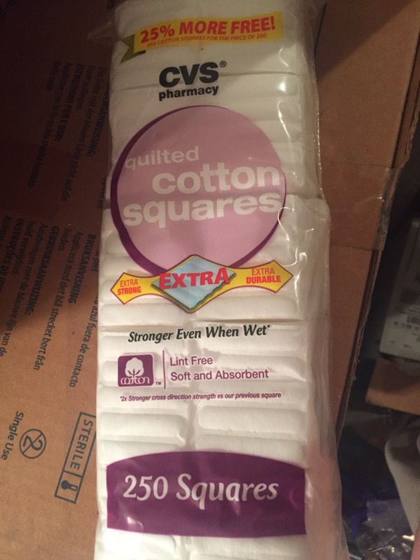 brand new quilted cotton squares cvs 250ct for sale in lexington