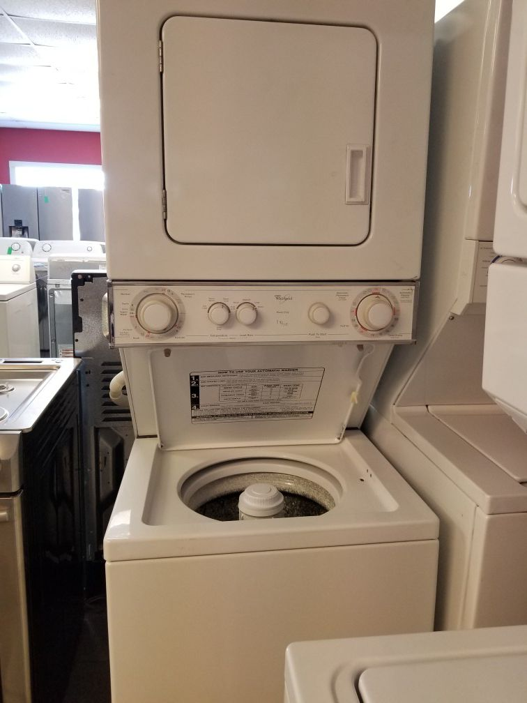 """Whirlpool 24"""" stackable washer and dryer unit"""