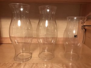 3 set glass candle cover for Sale in Alexandria, VA