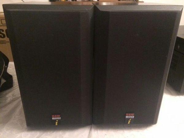 BOWERS & WILKINS B&W DM 600i bookshelf speakers - pair for Sale in Phoenix,  AZ - OfferUp