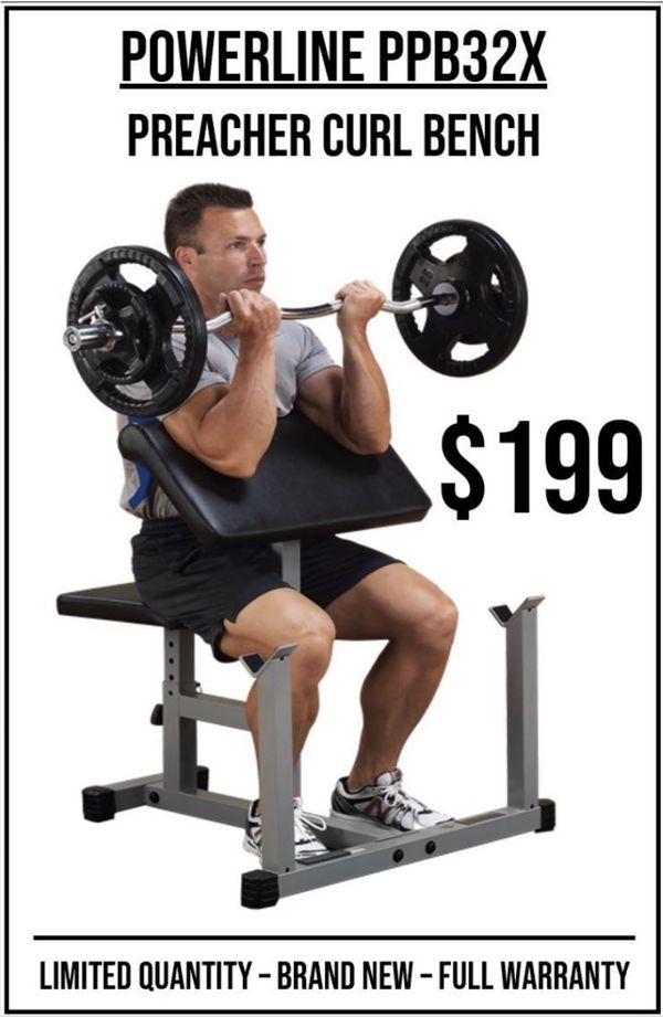 PREACHER CURL BENCH ADJUSTABLE for Sale in Riverside, CA ...