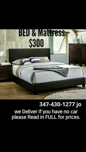 Queen Bed with mattress and box .New in boxes. .pick up 17 Mandy court si N.Y. or drop of $40. 347*430*12**77 no discounts.white or black.see picture for Sale in New York, NY