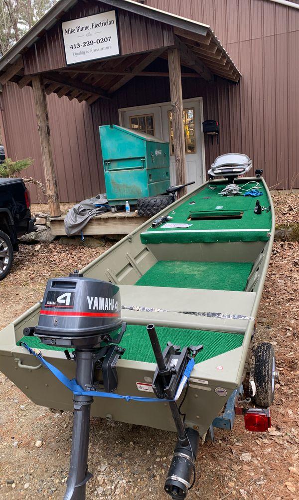 1436 tracker topper 2019 4hp yamahas motor